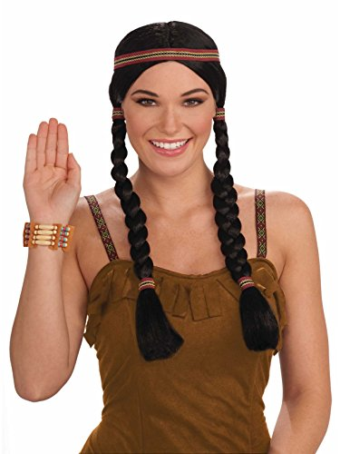 Forum Novelties Native American Princess Wig, Black/Brown, One Size]()