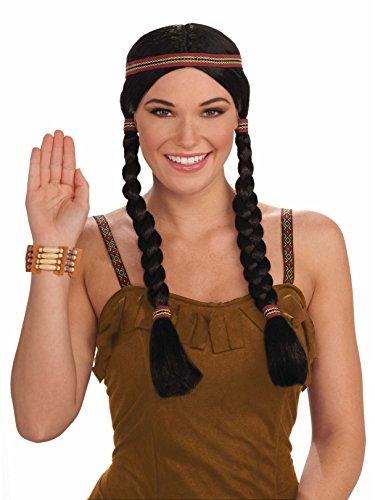 (Forum Novelties Native American Princess Wig, Black/Brown, One)