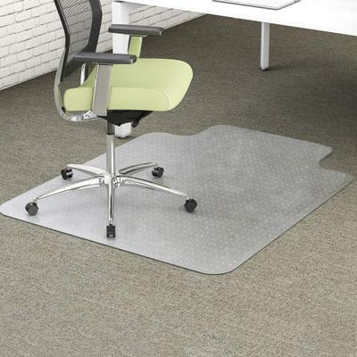 - deflecto CM1K112PET EnvironMat Recycled Anytime Use Chair Mat Med Pile Carpet 36x48 w/Lip Clear