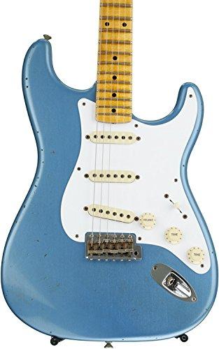 - Fender Custom Shop Ancho Poblano Stratocaster Journeyman Relic - Lake Placid Blue Metallic