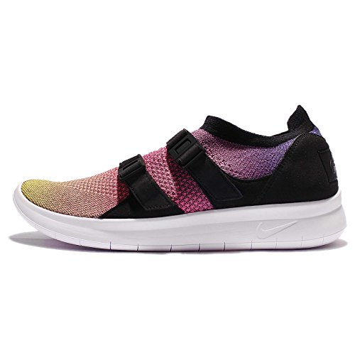Nike AIR SOCKRACER Flyknit PRM Mens Running-Shoes 898021-700_12.5 - Yellow Strike/White-Racer Pink-Black (Nike Flyknit Racer Black White For Sale)