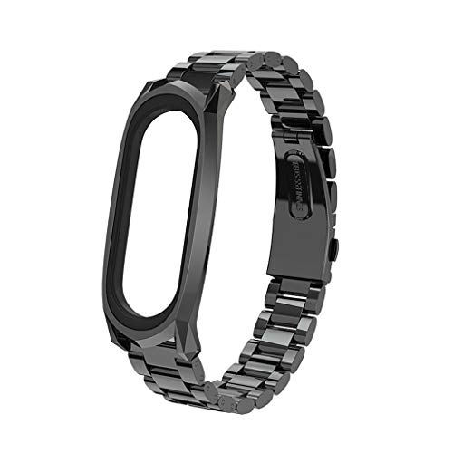 - For Xiaomi Mi Band 4 Replacement Stainless Steel Belt Wristband Soft Band Mesh Strap By Larmly(Black)