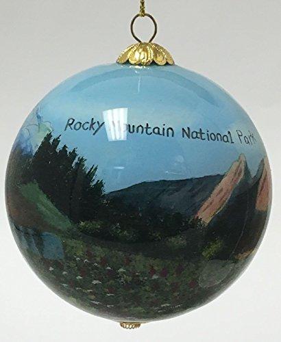 Colorado rockies christmas ornament
