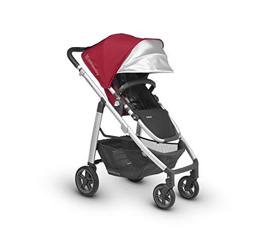 2018 UPPAbaby Cruz Stroller -Denny (Red/Silver/Black Leather)