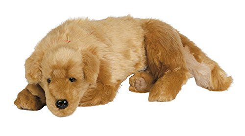 Ditz Designs Realistic Plush Golden Retriever Lap Dog -
