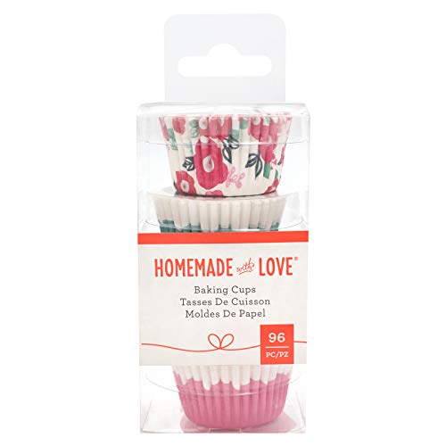 Homemade With Love 351403 Floral Baking Cups Mini Multi