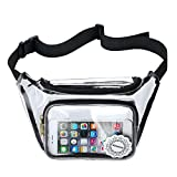 NFL Clear Fanny Pack Stadium Security Approved Transparent Waist Bag for Events, Games and Concerts