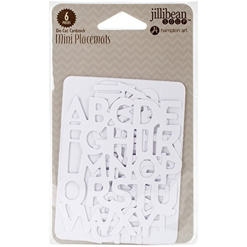 Alphabet Soup 2 Mini Placemats Die-Cut Cards 3
