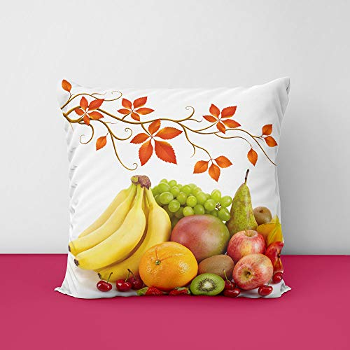 41%2B99dBQ4HL Fruit's Square Design Printed Cushion Cover