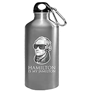 Alexander Hamilton Is My Jamilton Portrait With Sunglasses - Water Bottle