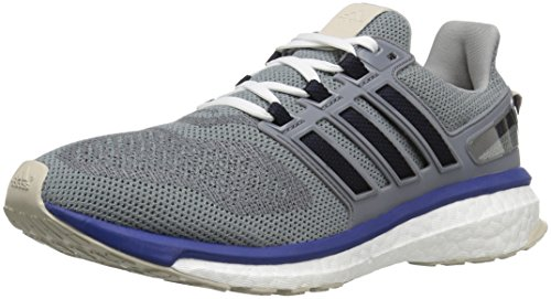 adidas Men's Energy Boost 3 M Running Shoe, Mid Grey/Unity Ink/Vapour Green Fabric, 7.5 M US ()