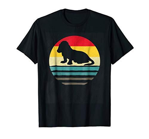 Basset Hound Dog Shirt Retro Vintage 70S Silhouette Breed Gi