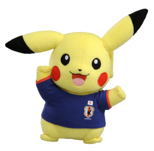 Pokemon Japan national football team With Pokemon Pikachu Plush Doll guts pose