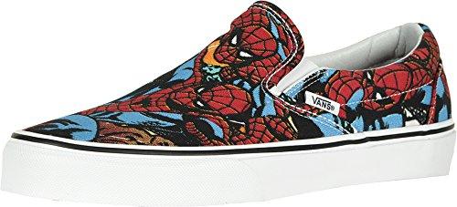 Vans x Marvel Slip-On Sneakers (Spiderman Black) Unisex Comic Skate Shoes ()