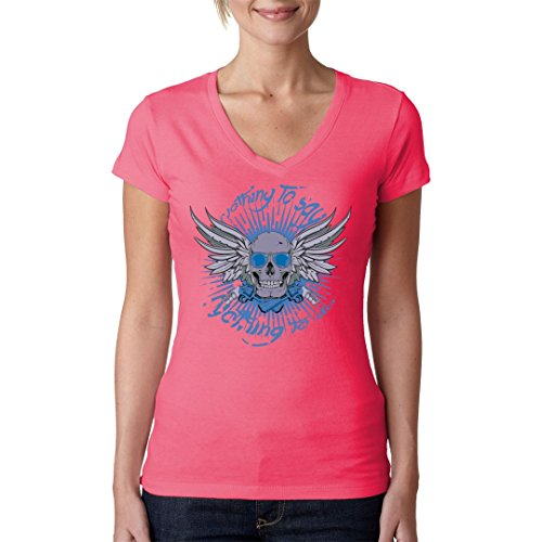 Gothic Fantasy Girlie V-Neck Shirt - Nothing To Say - Nothing To Do by Im-Shirt Light-Pink