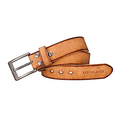 """Men's Classic Casual Jean Style Strong Built Genuine Leather Belt (1.5"""" Width)"""