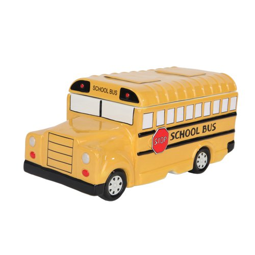 Student School Bus Set of 2 (Cookie Jars + Salt & Pepper Shakers)