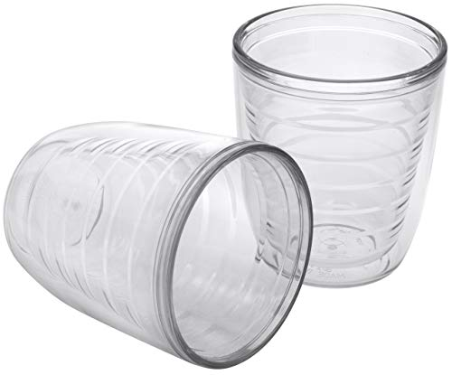 2-pack Insulated 12 Ounce Tumblers - BPA-Free - Made in USA - Clear