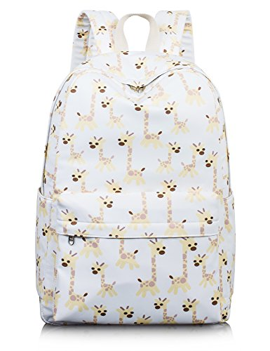 School Bookbags for Girls, Cute Giraffe Laptop Backpack College Bags Women Daypack Travel Bag by Leaper