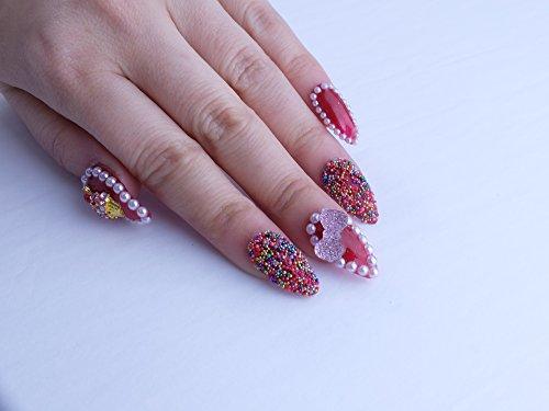 Red Cupcake Custom Press on Nails by Unicornails