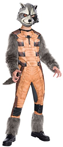 [Rubies Guardians of The Galaxy Deluxe Rocket Raccoon Costume, Child Large] (Raccoon Girl Costumes)