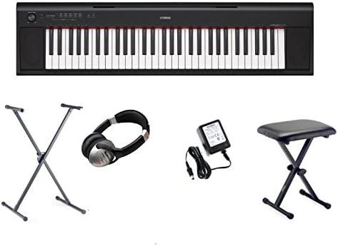 Yamaha NP-12 Piaggero Home Keyboard 61 teclas El paquete incluye: X-Stand, X-stool, auriculares y adaptador de corriente