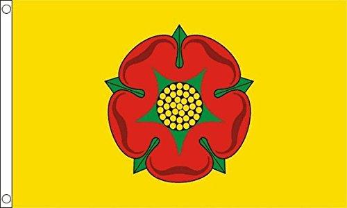 Flagtex Unisexs Lancashire New Nylon Flag Large Multi-Colour