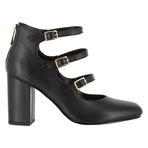 Bella Vita Womens Nettie Dress Pump Black Leather