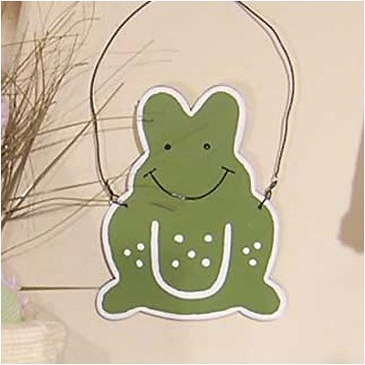 One Little Froggie Green Frog Wall Hanging