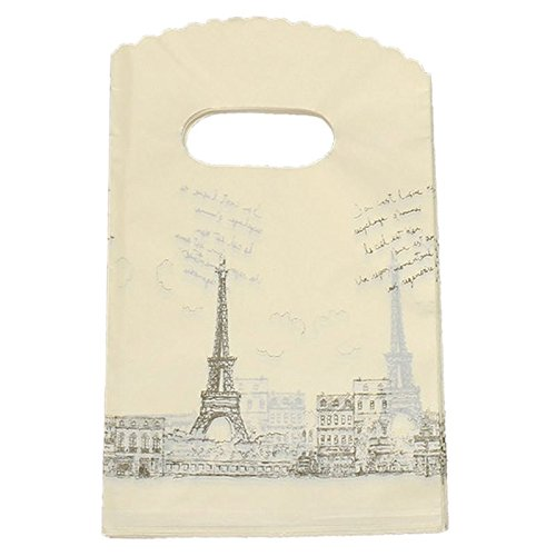 SODIAL(R) 50 Bolsas de Embalaje de plástico con Asas para ...