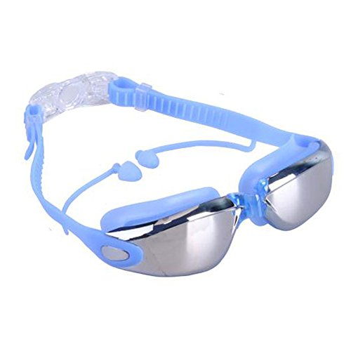 XZXZX Swim Goggles - Swimming Goggles Pro for Women Men Adult Youth Kids,Professional No Leaking,Wide View Anti Fog UV Protection Comfortable,with Ear Plug Watertight,Shatter-Proof (Blue)