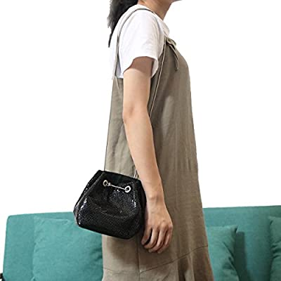 Mesh Chain Mail Bucket Bag Shoulder Bags crossbody bag for Women Metal Mesh Evening Handbags Clutch Purses