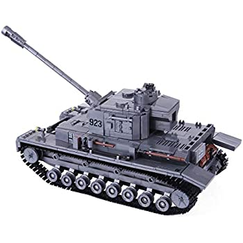 Lingxuinfo Toy Tank Building Block Set, 1193Pcs Large Panzer Tank Model Kit Military Army Tank Model for Kids Aged 6+ Compatible with Major Brands