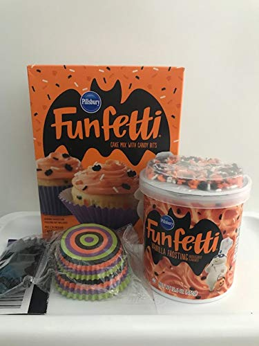Halloween Funfetti Cupcake Bundle: 1 15.25oz pkg Funfetti