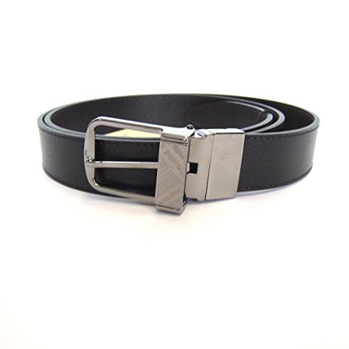 Burberry London Plain Leather Will 30 mm Reversible Leather - Black Belt Burberry