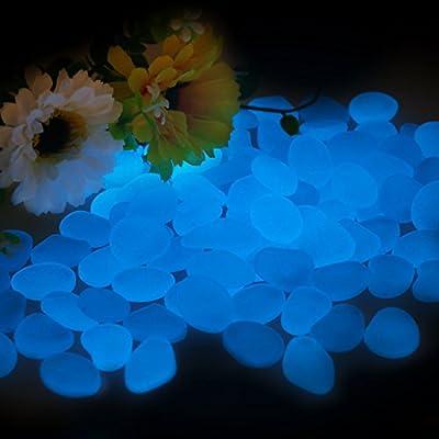 Garden Pebbles, Glow Stones Rocks, Luminous Pebbles for Walkways Outdoor Decor Aquarium Fish Tank Garden Decorative Stones for Path Lawn Yard Walkway?100pcs?