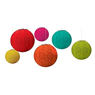 Fiesta Paper Lantern Value Pack Party Accessory (6-Pack): Toys & Games