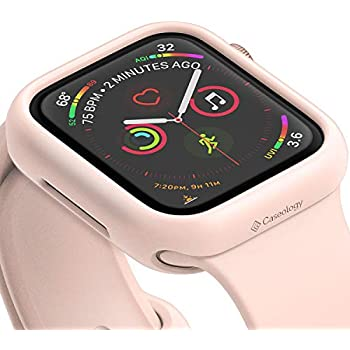 Caseology Nero for Apple Watch Series 4-44mm Case (2018) - Minimal & Slim -  Pink