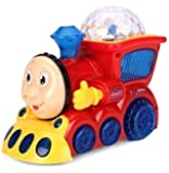 Babytintin™ Bump and Go Musical Engine Train with 4D Light And Sound For Toy For Kids
