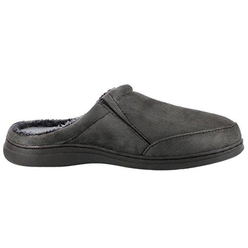Softmoc Mens Polar Ii Aperto Indietro Pantofola Carbone 9 M Us