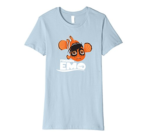 Womens Funny T-shirt Emo Small Baby Blue