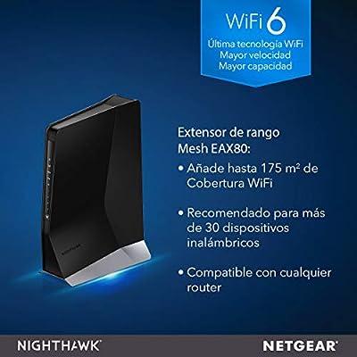 Netgear EAX80 Repetidor WiFi Mesh AX6000, amplificador WiFi 6 con ...
