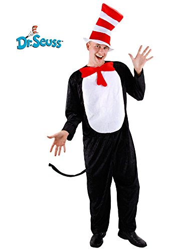 Cat In A Hat Costumes (elope Cat in the Hat Adult Costume Large/X Large)