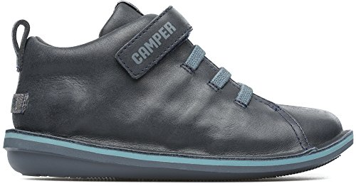 Camper Kids Boys' Beetle Ankle Boot, Dark Gray, 32 D EU Little Kid (1 US)
