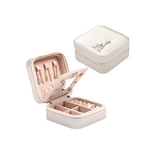 Jewelry Box Travel Cosmetic Jewelry Casket Organizer Makeup Lipstick Storage Box Beauty Container Necklace Birthday ()