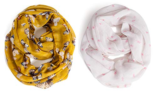 Kids Infinity Scarf Lightweight Toddler Girls Loop Scarves for Women Boys by A Sund (pair4)