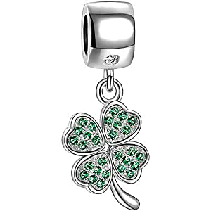Amazon Com Soufeel Four Leaf Clover Charm Beads For