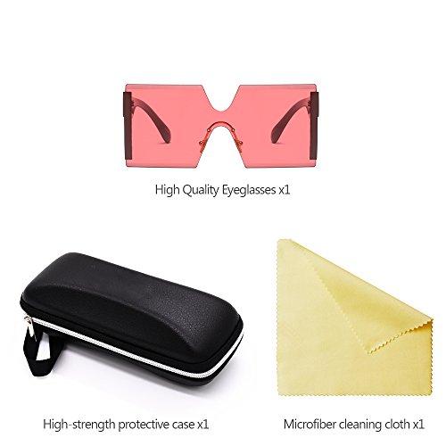 02 Optimal UV400 Estilo Cuadradas sol KINDOYO de de Gran Mujers Protección para Gafas tamaño O1xdqX