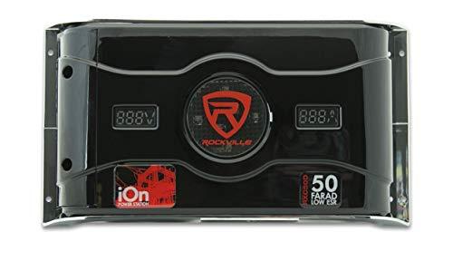 Rockville RXC50D 50 Farad 24V Surge Hybrid Ion Capacitor Voltage & Amerage Meter by Rockville (Image #1)