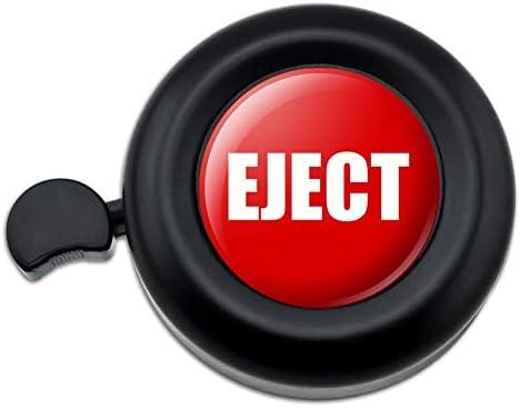 赤いイジェクトボタンのデザインが面白い自転車ハンドルバー自転車ベル
